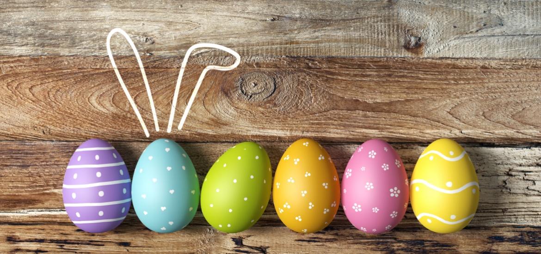 coloured eggs