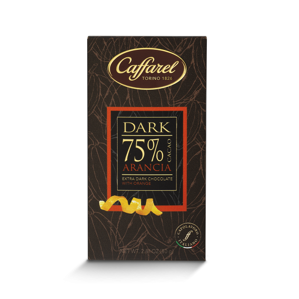75% cocoa and orange bar