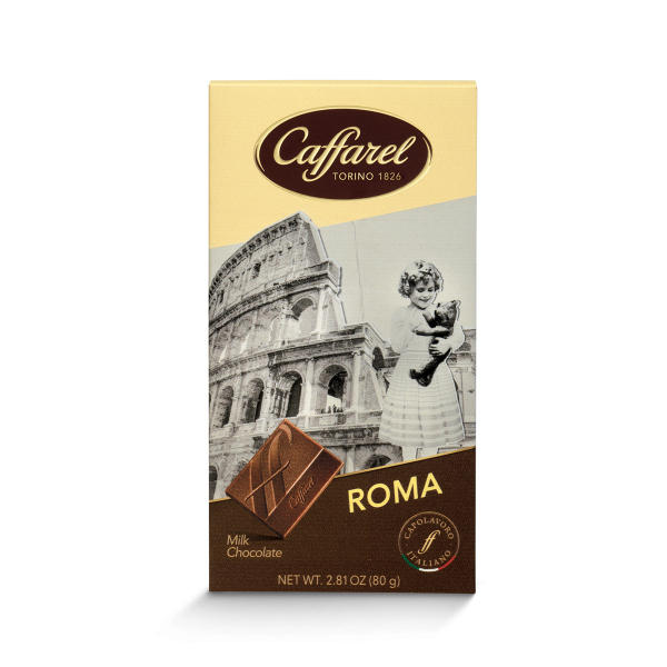 Love Italy: Rome milk chocolate postcard