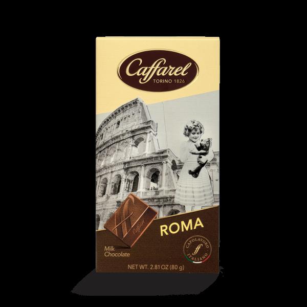 Viva l'Italia: cartolina di cioccolato latte Roma