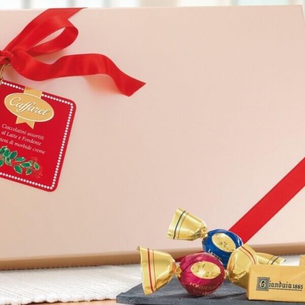 Box with tag and ribbon